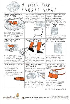 9 Poppin' Uses for Bubble Wrap - Secret Tips from the Yumiverse House Cleaning Tips, Diy Cleaning Products, Cleaning Hacks, Simple Life Hacks, Useful Life Hacks, Recycle Bubble Wrap, 1000 Life Hacks, Making Life Easier, Helpful Hints