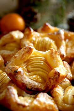 These Impressive French Apple Pastries are actually a cinch to make thanks to Wewalka puff pastry. A great puff pastry recipe for Christmas morning if you need a breakfast idea that can also be made t Puff Pastry Desserts, Puff Pastry Recipes, Apple Danish Recipe Puff Pastry, Apple Tart Puff Pastry, Apple Turnovers With Puff Pastry, Pastries Recipes, Brunch Recipes, Breakfast Recipes, Breakfast Ideas