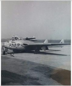 1950's Blue Devils pilot with RCAF Vampire