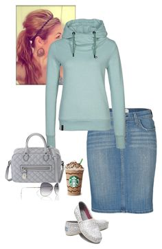 """""""Up Early, Day Out & About"""" by sweet-spicy-micky ❤ liked on Polyvore featuring Current/Elliott, Naketano, TOMS, Marc Jacobs and Tom Ford"""