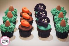 Sweet Cucas and Cupcakes by Rosângela Rolim: Mini Cupcakes Dinossauros
