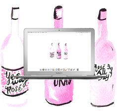 Wine Not Wednesday: Free Rosé Watercolor Background! Watercolor Desktop Wallpaper, Watercolor Background, Wallpaper Backgrounds, Dress Your Tech, Watercolor Rose, Wednesday, Wine, Studio, Artwork