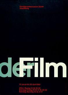 """Der film"". Josef Muller-Brockmann, 1960."