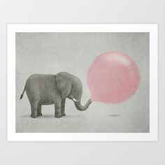 Just ordered this print for our house - I love it!  Jumbo Bubble Gum  Art Print by Terry Fan - $18.00