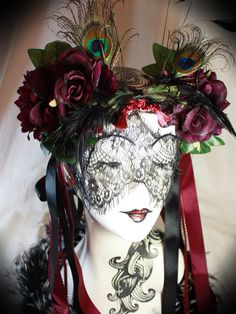 Flower head dress at http://www.etsy.com/listing/169884176/giant-mucha-floral-crown-art-nouveau
