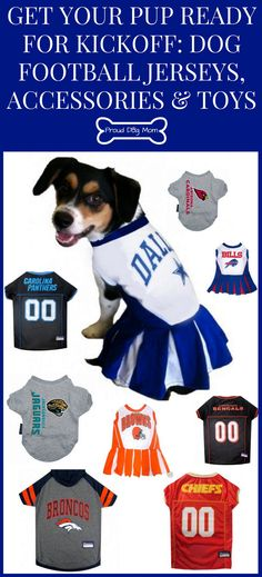 Get Your Pup Ready For Kickoff  Dog Football Jerseys   Toys ed78eb62c