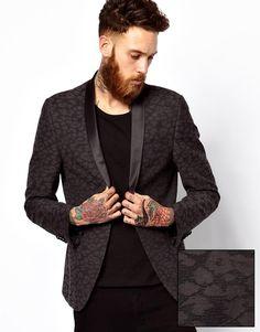 ASOS | ASOS Slim Fit Blazer in Leopard Design at ASOS