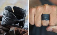70 Cool Rings For Men That Are Incredibly Unique Discover an impressive selection of cool rings for men that are unique & creative, We have compiled the ultimate list of cool rings for guys! Check it Out! Cool Rings For Men, Unique Rings, Men Rings, Feather Ring, Cool Gifts, Beaded Bracelets, Necklaces, Cool Stuff, Accessories