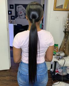 Having brief fashionable hairstyles makes you look hip and occurring. You can adopt a brief hairdo quickly due to the fact that they opt for every dress. Weave Ponytail Hairstyles, Ponytail Styles, Girl Hairstyles, Hairdos, Hair Ponytail, Long Ponytail Weave, Relaxed Hairstyles, Birthday Hairstyles, Men's Hairstyle