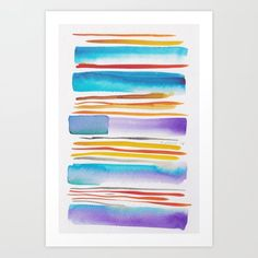 Lines & Color Block Series October 2018 Abstract Art For Sale, Abstract Canvas Art, Canvas Art Prints, Watercolor Art Paintings, Watercolor Artists, Painting Art, Watercolors, Watercolor Pattern, Watercolor Print