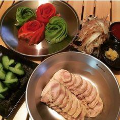 WEBSTA @ haa1976 - 出張後は野菜中心の生活…肉か刺身を酢コチュジャン