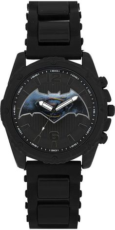 DC COMICS DC Comics Mens Batman Black Strap Watches