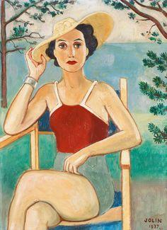 Clo in a Bathing Suit, 1937  by Einar Jolin (Swedish 1890-1976)