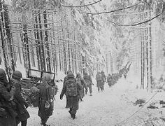 The Battle of the Bulge ~My dear neighbor in NY fought in this battle. He tells of the cold and hunger. They couldn't light fires to cook their food or keep warm. He said they would kill and eat raw chickens. He always asked for and got the organ meats, because he knew they would be tender and sweet raw! Thanks for your service and sacrifice, Mr. Smith ~God Bless You All!  I can only add an Amen to that.  What our men did is amazing & we should continue their steadfastness today!