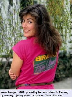 "Laura 1984, visiting Germany and magazine ""Bravo""."