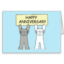 Happy Anniversary two cats Greeting Card