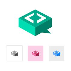 Code Logo Study by Michela Tannoia. Tagged with: flat,chevrons,logo. Project Description: Case study logo design for a project which combines GitHub and a chat web-application.