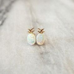 Opal Pineapple Stud Earrings Sterling Silver with Gold or Rose Gold plated, Pineapple Opal Earrings, Hypoallergenic Dainty Earrings Dainty Earrings, Opal Earrings, Cute Earrings, Sterling Silver Earrings Studs, Silver Rings, Silver Bracelets, 925 Silver, Onyx Necklace, Stone Earrings