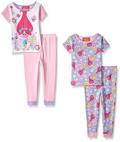 Long Pyjamas 4-10 Years Hair We Go Girls Official Trolls