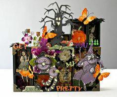 Gorgeous Halloween shadow box