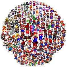 Comment Mario a-t-il évolué visuellement ?