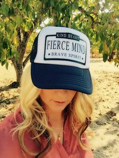 Items similar to Kind Heart Fierce Mind Brave Spirit cute womens trucker  hat on Etsy dc7583f47d1
