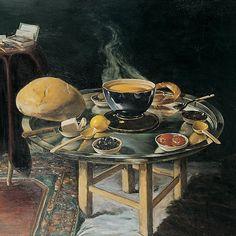 HOCA ALI RIZA ..... 1858 - 3/20/1930 ... Turkish Impressionist ... () Breakfast