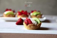 Crostatine tricolore: pasta frolla, frutta e crema al mascarpone   Il Laboratorio delle Torte