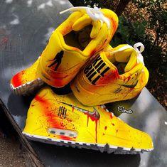 Tweaked the kill bills on the restock. Y'all like the logo backs or the original heel tab better? Custom Made Shoes, Custom Sneakers, Sneakers Nike, Kill Bill, Nike Air Force, Behind The Scenes, Logo, The Originals, Heels