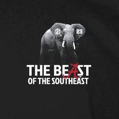 9879ce550777c1 Alabama Crimson Tide 2012 SEC Football Champions Beast T-Shirt - Black