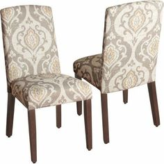 HomePop Suri Curved Top Parson Dining Chair(Set of 2), Brown