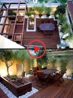 Small Backyard Patio, Small Backyard Design, Backyard Pergola, Backyard Landscaping, Pergola Kits, Roof Terrace Design, Rooftop Design, Balcony Design, Rooftop Terrace