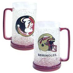 Florida State Seminoles  16oz Crystal Freezer Mug #DuckHouse #FloridaStateSeminoles  #GoNoles #FSU #JockUniversity
