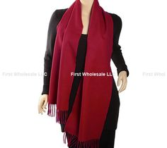 Cashmere Feel Scarf Z19-01 Color:Cranberry