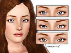 Realistic and bright contact lenses by CherryBerrySim - Sims 3 Downloads CC Caboodle