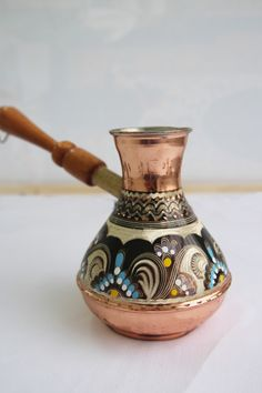 Turkish Coffee Pot by Grand Bazaar Shopping, www.grandbazaarshopping.com , Hand painted, handmade