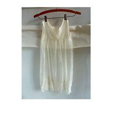 Vintage Edwardian Baby Dress Off White Embroidered Linen Silk Baptism on Etsy, $24.95