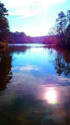 Reflection of the sun, Noland Trail