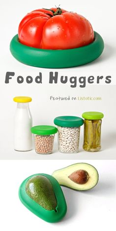 21 Totally Appropriate Silicone Inventions-They create an effortless air tight seal around your fruits and veggies (there is even one made specifically for avocados!). They are also great for covering opened cans, snack cups, or jars. Buy them here: FoodHuggers.com
