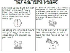 Time word problems freebie