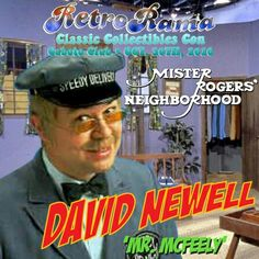 Mister Rogers Neighborhood's Mr McFeely David Newell  - coming to Windsor's RetroRama Classic Collectibles Con Oct. 30/2016! www.Facebook.com/RetroRamaWindsor Ronald Mcdonald House, Oct 30, Special Guest, Windsor, The Neighbourhood, David, Facebook, Feelings, Classic