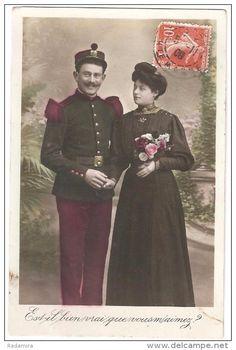 """Carte Postale Ancienne """"Est il bien vrai que vous m'aimez?"""" France 1909."""