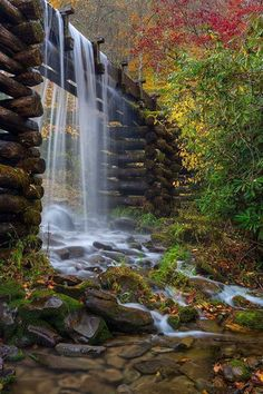 The Mingus Mill, Blue Ridge Mountains, North Carolina.