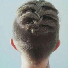 short hair undercut with braid