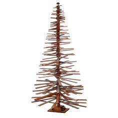 Sage & Co Sage & Co. 84-inch Wood Slat Spiral Christmas Trees (740 CAD) ❤ liked on Polyvore featuring home, home decor, holiday decorations, brown, christmas tree trunk, wooden trunk, holiday home decor, holiday decor and wooden home decor