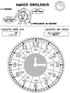 Telling Time: A Clock Freebie Lessons For Kids, Math Lessons, I School, Primary School, Creative Writing Ideas, Teaching Time, Math Help, Learning Italian, Preschool Worksheets