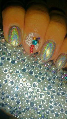 Hologram nails... #holonails #3dnails #acrilyc #dragonfly #colorclubhologram #nailart #3dnailart #fashion #beauty #shortnails