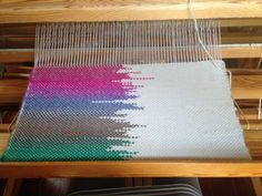 Clasped weft shawl by me