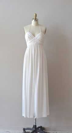 1970s jersey dress / grecian dress / Neapolis maxi dress