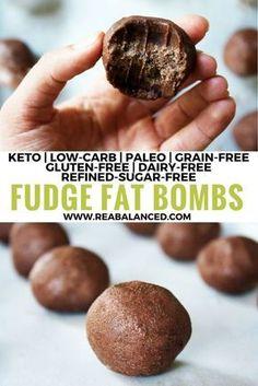 Fudge Fat Bombs: Keto, low-carb, paleo, grain-free, gluten-free, dairy-free, vegetarian, vegan, & refined-sugar-free!